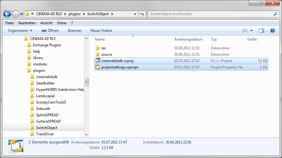 Creating a new plugin project in Visual Studio – MAXON SDK SUPPORT