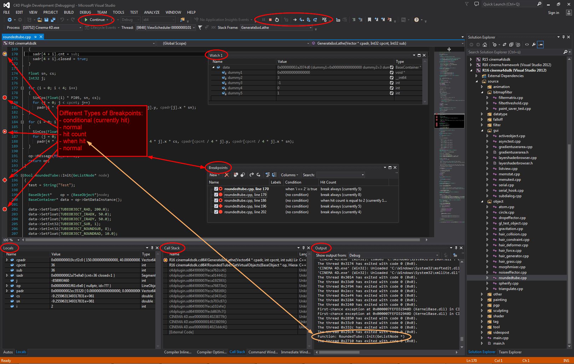 Debugging Cinema 4D Plugins Written in C++ – MAXON SDK SUPPORT